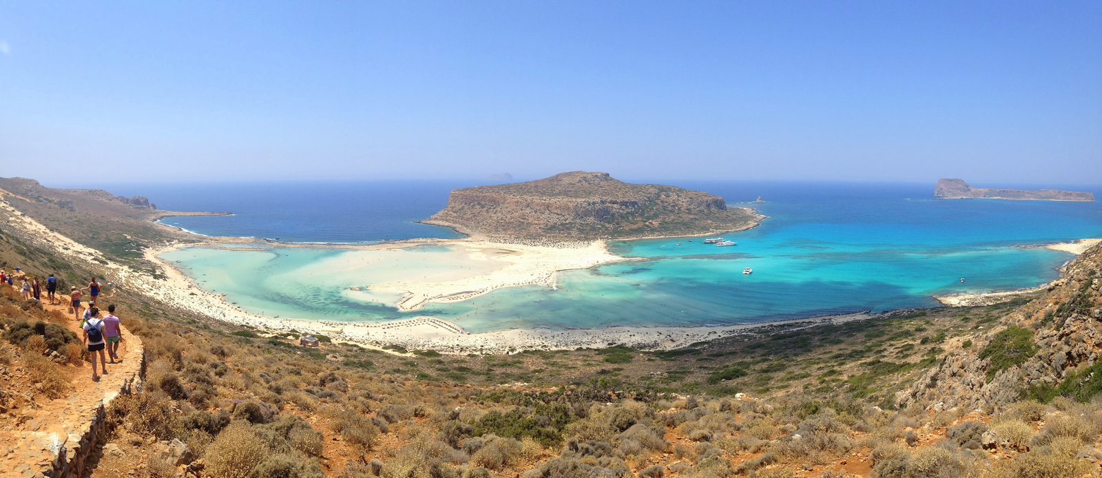 Balos Lagoon in Chania on the island of Crete.