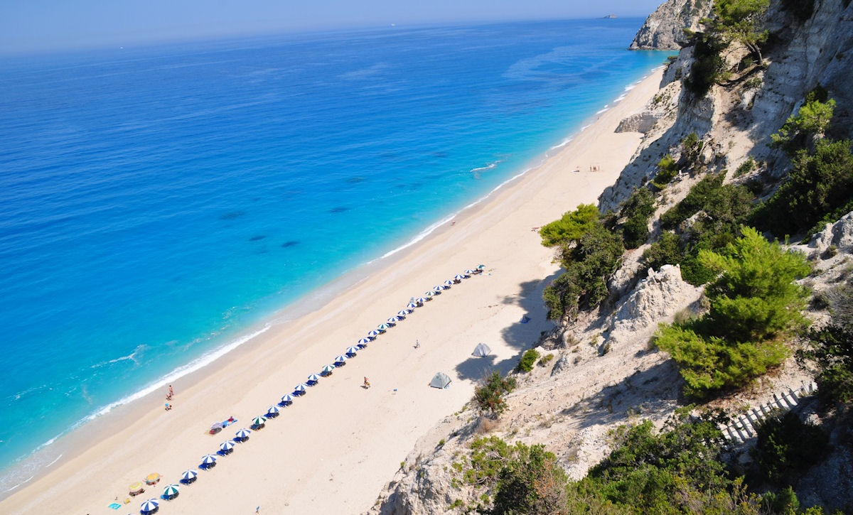 Engremni Beach on the west side of the island of Lefkada.