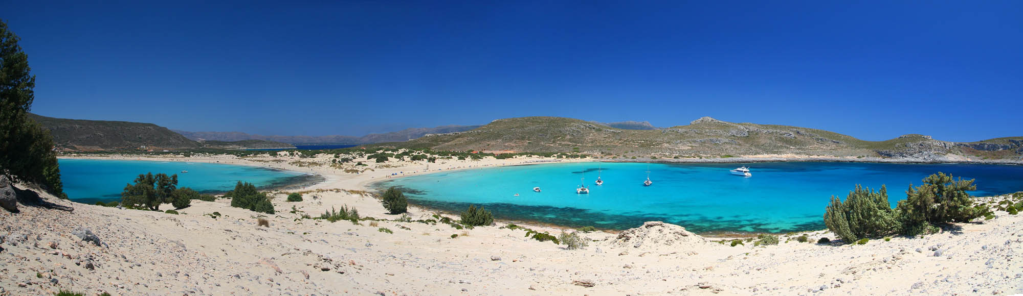 Elafonisos – a tiny island between the Peloponnese and Kythera.  An area with many beautiful beaches.