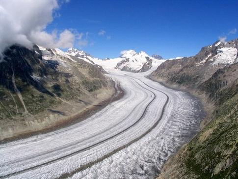 Aletsch Glacier In Switzerland - Part Of The Swiss Alps